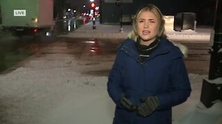 Plows clearing roads in Oshkosh after biggest snowfall this Winter
