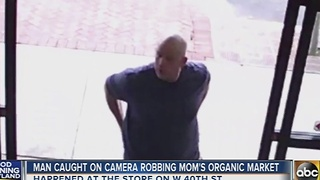 Mom's Organic Market robbery suspect caught on camera - Video