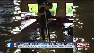 Sallisaw businesses damaged by flood water - Video