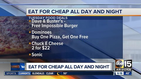 Tuesday food deals to eat all day long
