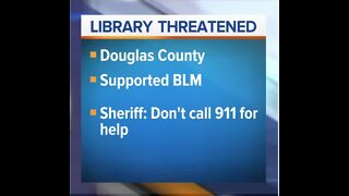 Sheriff threatens library after BLM post