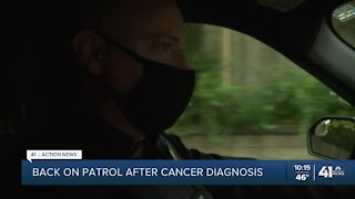 Merriam officer, now cancer-free, returns to duty