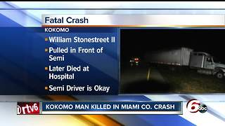 18-year-old from Kokomo dies in Miami County crash - Video