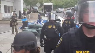 Protest Encampment Cleared at ICE Building in Portland - Video