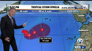 5 p.m. Monday Ophelia update - Video