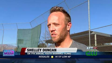 Shelley Duncan youth baseball clinic