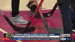 Vegas Golden Knights host Spring Break Street Hockey Tour - Video