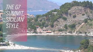 The G7 Summit has bombarded this small Sicilian town - Video