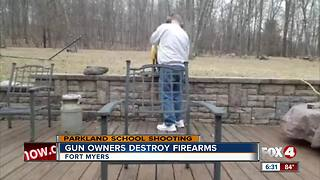 Gun owners get rid of their guns to send message - Video
