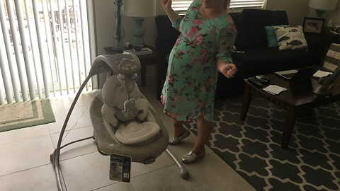 Pregnant Beauty Dancing To Her New Baby Swing