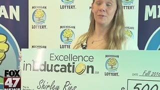 St. Johns teacher wins Excellence in Education award - Video