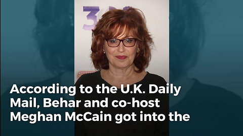 Unhinged: Behar's Vulgar, Off-air Attack On Meghan Mccain Could Finish Her On 'The View'