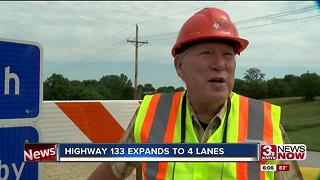 Highway 133 expands to 4 lanes on Monday 6pm - Video