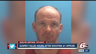 Suspect who shot at Columbus police officer dead after shootout with ISP trooper - Video