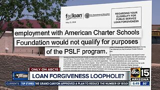 Are charter school teachers eligible for loan forgiveness?