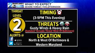 Severe Weather Threat Lingers - Video