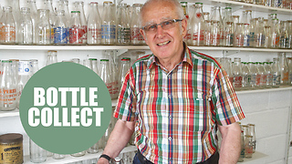 Retired dairy worker has massive collection of milk bottles - Video