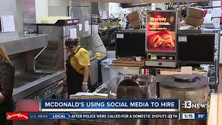 McDonald's using Snapchat to hire 1,000 people across Las Vegas valley - Video