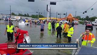 Local emergency managers balance resources between Florida and Texas as Hurricane Irma develops - Video