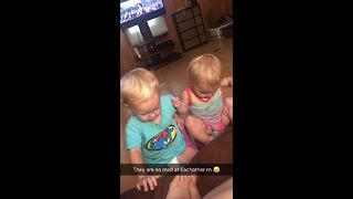 Hilarious argument between babies