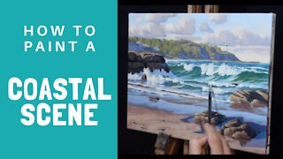 How to Paint a COASTAL SCENE