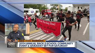 Detroit Firefighters to Host 20th Annual Back 2 School Giveaway Saturday, August 26 - Video