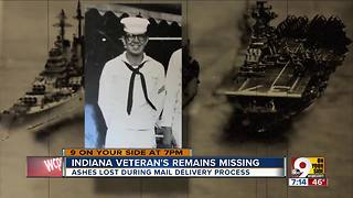 Indiana veteran's remains missing - Video