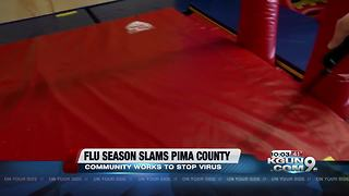 Local business taking steps to stop spread of flu virus - Video