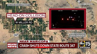 Crash shuts down SR 347