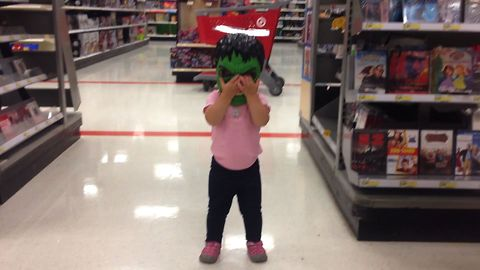Sweet Tot Puts On Hulk Mask In Store And Goes On A Rampage
