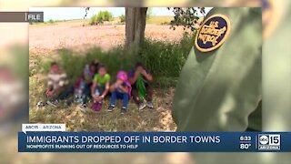 Immigrants dropped off in border towns looking for resources