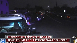 Bomb found at Clairemont SWAT standoff - Video