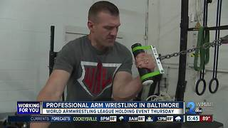 World Armwrestling League comes to Baltimore - Video