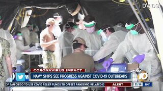 Navy ships see progress against COVID-19 outbreaks