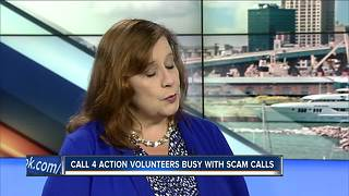 Call 4 Action volunteers busy with scam calls