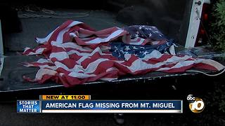 American Flag missing from popular Chula Vista hiking spot - Video