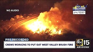 Large brush fire southwest of the Valley Friday