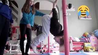 Young Gymnast Takes an Unfortunate Tumble - Video