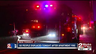 60 people displaced Wednesday after apartment fire