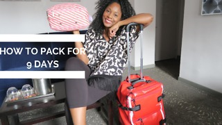 How to pack for 9 days using only carry-on luggage