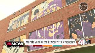 Murals at Scarritt Elementary vandalized again - Video