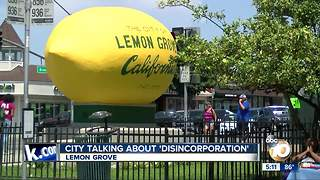 Lemon Grove mentions disincorporation amidst financial squeeze - Video