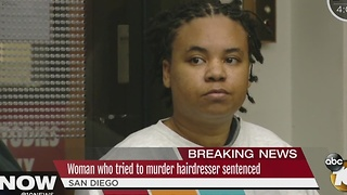 Woman who tried to murder hairdresser sentenced - Video