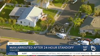 Man arrested after daylong standoff with police in Chula Vista