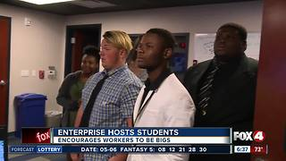 Local business community mentors students