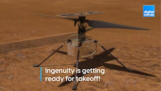 The first flight on Mars is getting ready for takeoff