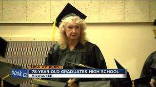 78-year-old West Allis woman graduates high school - Video