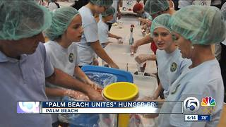 Volunteers help feed the hungry in Palm Beach - Video