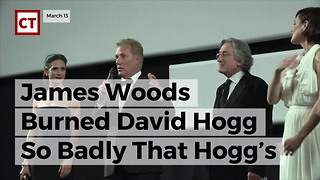 James Woods Burned David Hogg So Badly That Hogg's Pic Came Off Of Twitter - Video