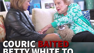 Couric Baited Betty White To Trash Trump But Got Shock Answer - Video